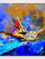 ieftine -Hang-pictate pictură în ulei Pictat manual - Abstract Modern Includeți cadru interior
