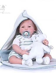Недорогие -NPKCOLLECTION Куклы реборн Мальчики 20 дюймовый как живой Новый дизайн Искусственная имплантация Коричневые глаза Детские Универсальные Игрушки Подарок
