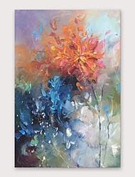 abordables -Pintura al óleo pintada a colgar Pintada a mano - Abstracto Modern Incluir marco interior