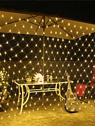 billiga -1.5m Ljusslingor 96 lysdioder RGB / Vit / Röd Vattentät / Kreativ / Party 220-240 V 1set
