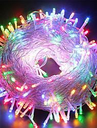 Недорогие -50m Гирлянды 400 светодиоды 1 блок питания X 12V 3A Тёплый белый / RGB / Белый Водонепроницаемый / Творчество / Для вечеринок 12 V 1 комплект