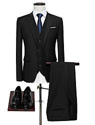 olcso -Férfi ruhák, Egyszínű Hasított rever Poliészter Sárga / Bor / Világoskék XXXXL / XXXXXL / XXXXXXL