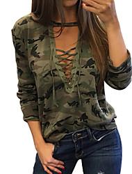 economico -T-shirt Per donna Camouflage Verde L