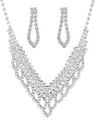 povoljno -Žene Bijela Kubični Zirconia Vintage Style Nakit Set Stilski, Klasik uključiti Ogrlica Naušnica Svadbeni nakit Setovi Pink Za Vjenčanje Party