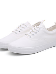 Χαμηλού Κόστους -Ανδρικά Παπούτσια άνεσης Πανί Ανοιξη καλοκαίρι Αθλητικά Παπούτσια Λευκό / Μαύρο