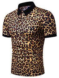 Недорогие -Муж. Polo Леопард Белый XL