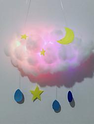 Недорогие -Новинка из светодиодов сделай сам хлопчатобумажное облако ночной светильник ручной работы ночной светильник декор подарки детям родитель-ребенок материал взаимодействия
