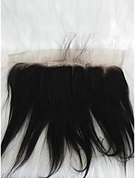 billige -Fletning af hår Lige Andre Menneskehår 1 Stykke Hårfletninger Sort 8 inch 8 tommer (ca. 20cm) Nuttet atletiktøj Brasiliansk hår