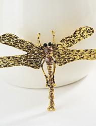 povoljno -Žene Klasičan Broševi Dragonfly Sa životinjama Crtići slatko Moda folk stil Broš Jewelry Zlato Pink Za diplomiranje Dar Dnevno Karneval Festival