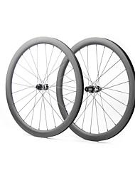 Недорогие -FARSPORTS 700CC Колесные пары Велоспорт 28 mm Шоссейный велосипед Углеродное волокно Подходит для клинчерной покрышки / бескамерной шины 24/24 Спицы 45 mm
