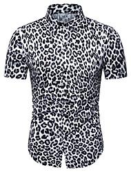 voordelige -Heren T-shirt Kleurenblok Bruin XL