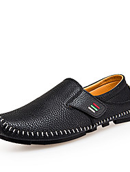 cheap -Men's Driving Shoes PU(Polyurethane) Summer Classic / Casual Loafers & Slip-Ons Breathable White / Black / Blue