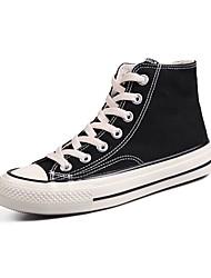 رخيصةأون -نسائي كانفا للربيع والصيف كلاسيكي / شيوع أحذية رياضية المشي كعب مسطخ أمام الحذاء على شكل دائري أسود / أخضر / وردي فاتح