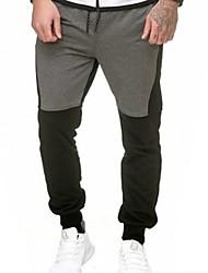 abordables -Hombre Básico Pantalones de Deporte Pantalones - Estampado Gris