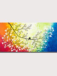 billige -styledecor håndmalt abstrakt fargerikt landskap oljemaleri med ramme for hjemmeinnredning
