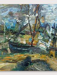 tanie -Hang-Malowane obraz olejny Ręcznie malowane - Abstrakcja Nowoczesny Naciągnięte płótka