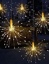 Недорогие -фейерверк свет складной букет формы светодиодные строки декоративные сказочные огни для гирлянды патио свадьба рождественский свет