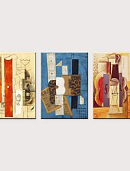 tanie -Nadruk Zwijane wydruki na płótnie - Abstrakcja Sławne Klasyczny Trzy panele