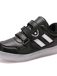 tanie -Dla chłopców / Dla dziewczynek Obuwie PU Wiosna / Jesień Świecące buty Adidasy Spacery LED na Dzieci Biały / Czarny / Różowy