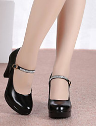 olcso -Női Modern cipők Bőr Magassarkúk Vastag sarok Dance Shoes Fekete