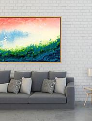cheap -Framed Art Print Framed Canvas - Landscape Floral / Botanical Plastic Illustration Wall Art