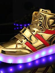 tanie -Dla chłopców / Dla dziewczynek Obuwie PU Wiosna / Jesień Świecące buty Adidasy Spacery LED na Dzieci Srebrny / Niebieski / Różowy