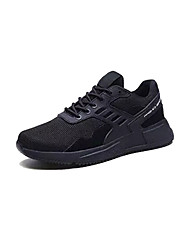 cheap -Men's Comfort Shoes Mesh / PU(Polyurethane) Spring Sporty Athletic Shoes Running Shoes Non-slipping Black / Beige / Gray