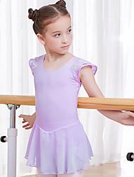 economico -Abbigliamento da ballo per bambini / Danza classica Vestiti Da ragazza Addestramento / Prestazioni Cotone Più materiali Manica corta Naturale Abito