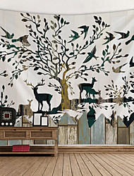 זול -נושאי גן / נושא פרחוני קיר תפאורה 100% פוליאסטר מודרני וול ארט, קיר שטיחי קיר תַפאוּרָה