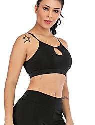 economico -Dancewear sportivo Top / Yoga Per donna Addestramento / Prestazioni Elastene / polyster A incrocio / A fasce / Elastico Senza maniche Reggiseni
