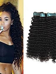 저렴한 -3 개 묶음 인도인 헤어 딥 웨이브 미처리 인모 인간의 머리 직조 익스텐션 인모 연장 8-28 inch 자연 색상 인간의 머리 되죠 클래식 최고의 품질 뜨거운 판매 인간의 머리카락 확장 여성용