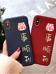cheap -Case For Apple iPhone X / iPhone XS Max Frosted / Pattern Back Cover Word / Phrase / Cartoon Soft TPU for iPhone XS / iPhone XR / iPhone XS Max