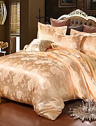 povoljno -Poplun Cover Sets Luksuz Silk / Cotton Blend / Polyster Jacquard 4 komadaBedding Sets