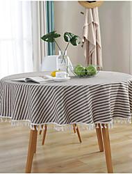 halpa -Nykyaikainen Puuvilla Pyöreä Table Cloths Yhtenäinen Pöytäkoristeet