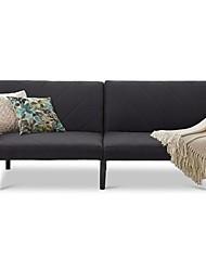Недорогие -современный диван-кровать футон в стиле середины века с черной льняной обивкой