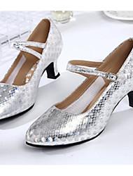 billige -Dame Moderne dansesko Syntetisk Hæle Cubanske hæle Dansesko Guld / Sølv / Lilla