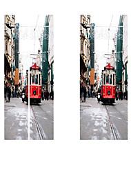 Недорогие -3d новинка метро поезд дверь стены стикеры краски обои для рабочего стола diy водонепроницаемый росписи плаката гостиная украшения дома