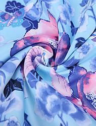 Недорогие -Сатин / атлас Цветы Стретч 150 cm ширина ткань для Подкладка продано посредством метр