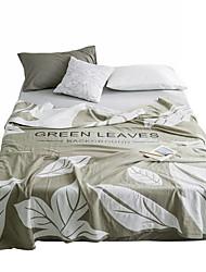 Недорогие -Многофункциональные одеяла, Цветочный принт Хлопок Мягкость одеяла