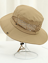 cheap -Unisex Party Basic Cute Cotton Straw Hat Sun Hat-Solid Colored Color Block All Seasons Beige Gray Khaki