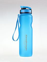 Недорогие -чайник Бутылка для воды 1000 ml PP Прочный для Отдых и Туризм Путешествия Зеленый Серый Синий Розовый