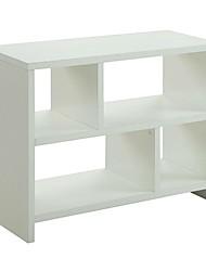 Недорогие -белый 2-х полочный современный книжный шкаф