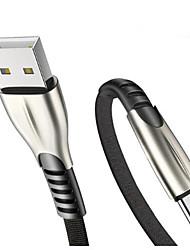 Недорогие -Type-C Кабель Плоские / Плетение / Быстрая зарядка Нейлон Адаптер USB-кабеля Назначение Samsung / Huawei