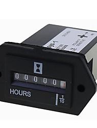 Недорогие -1 шт. Sys-1 ac100-250v dc12-36v 6-80 ac-dc универсальный электромеханический счетчик часов
