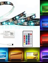 Недорогие -Brelong светодиодная подсветка телевизора RGB гибкая многоцветная эпоксидная смола ip65 водонепроницаемый с инфракрасным контроллером 24 ключа удаленного украшения хэллоуин тв компьютер фоновое