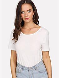 levne -Dámské - Jednobarevné Základní / Elegantní Bez rukávů, Krajka Bílá M