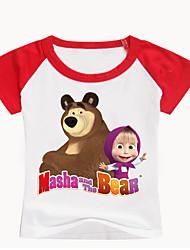 levne -Děti / Toddler Dívčí Základní Tisk Tisk Krátký rukáv Bavlna / Spandex Košilky Černá