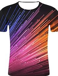お買い得  -男性用 プリント Tシャツ パンク&ゴシック / 誇張された 3D / 虹色 / グラフィック レインボー XXL