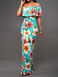 preiswerte -Damen Hülle Kleid Geometrisch Maxi