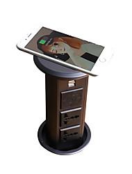 Недорогие -knospe великобритания / au / великобритания / ес / кр uns-04a беспроводное зарядное устройство bluetooth спикер кухня остров офис рабочий стол всплывающая розетка